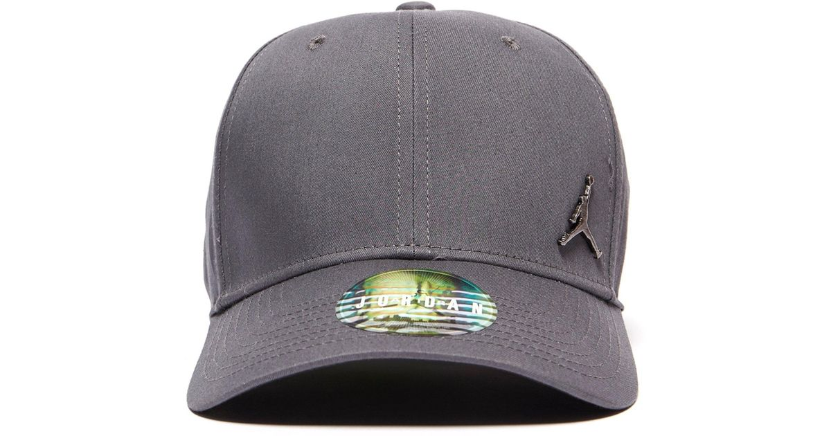 586f9b5cf50 ... authentic lyst jordan metal jumpman cap in gray for men 2dc86 cceeb