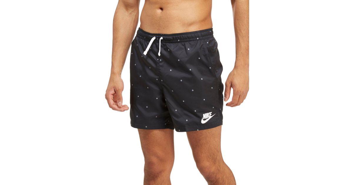 0c7da84e9d10c Lyst - Nike Flow Dot Shorts in Black for Men