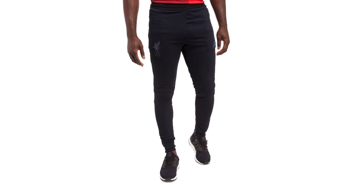 New Balance Synthetic Liverpool Fc 2017 Tech Pants In Black For Men Lyst