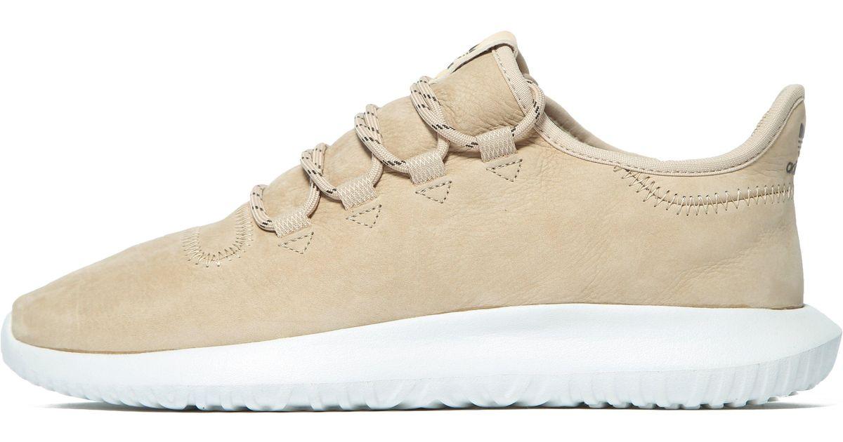 adidas originals beige tubular shadow leather