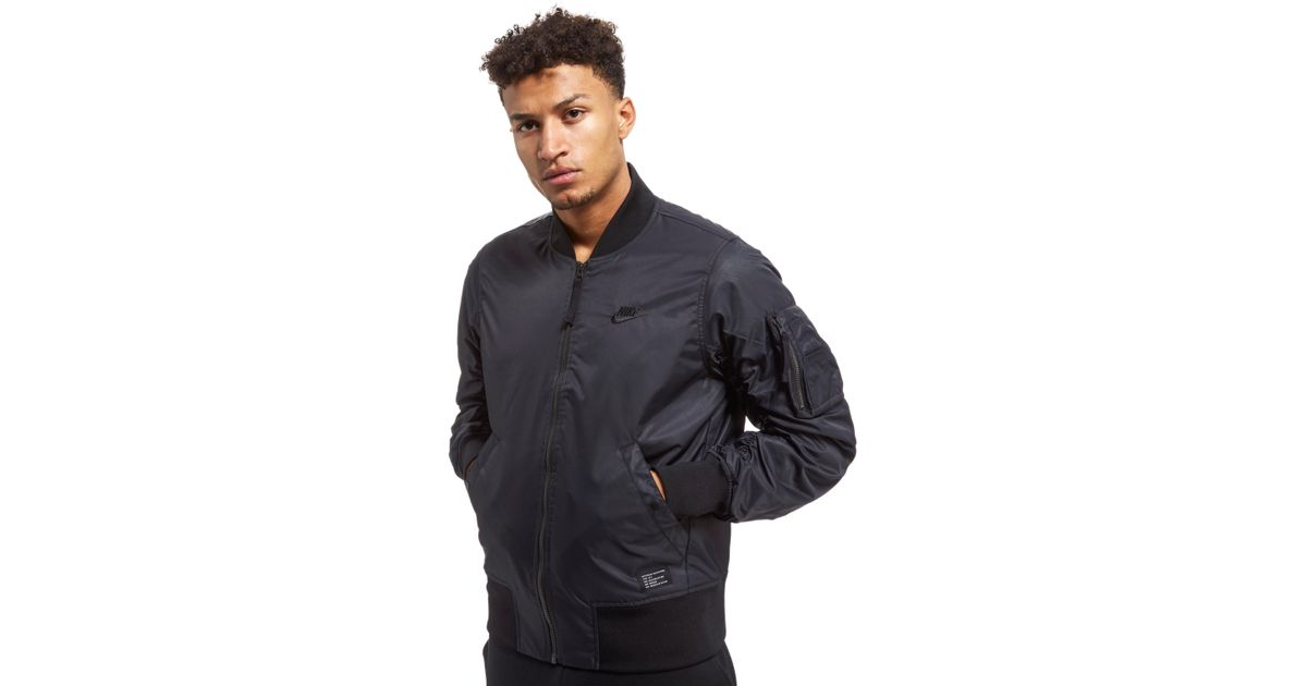 c23525d7a Nike Black Air Force 1 Woven Jacket for men