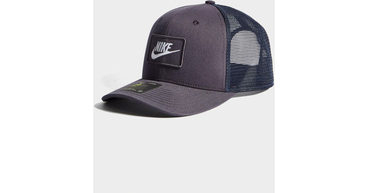 new style new design online store Nike Gray Swoosh Trucker Cap