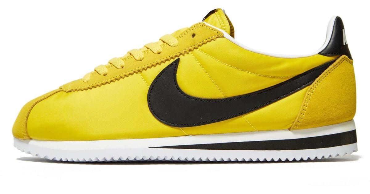 Cortez Nylon in Yellow/Black