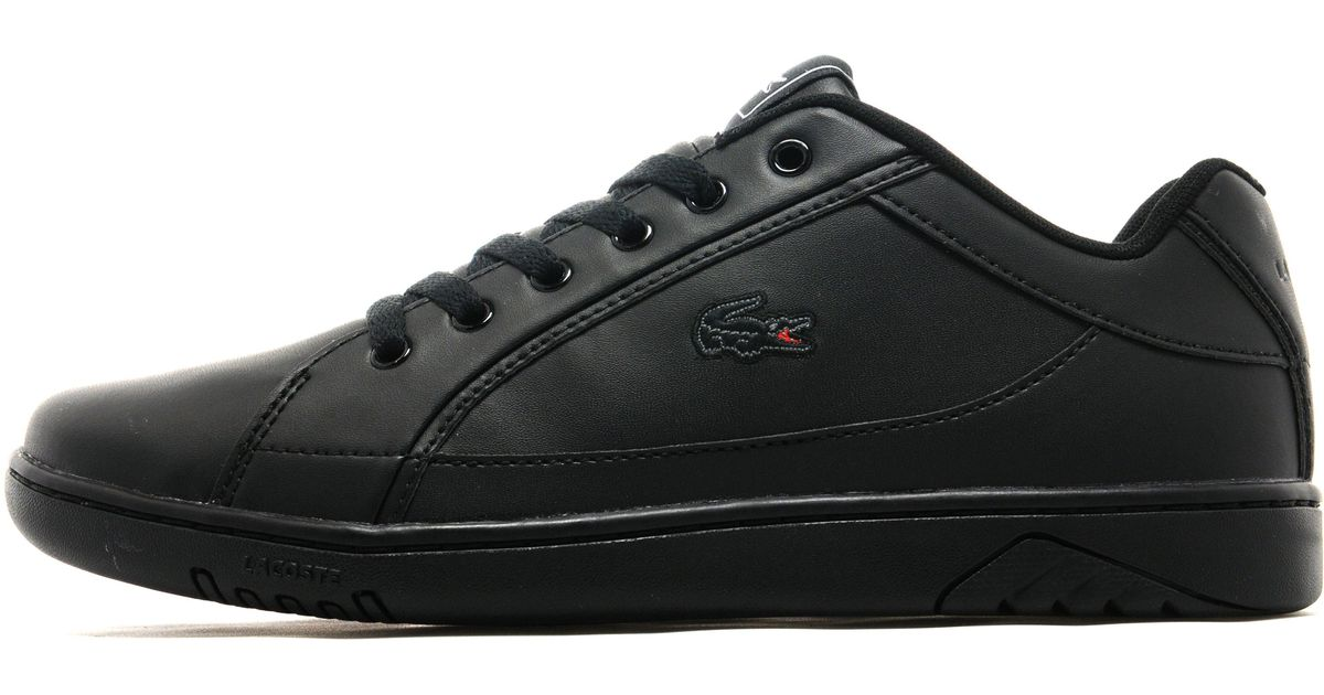 Lacoste Deviation Leather in Black for