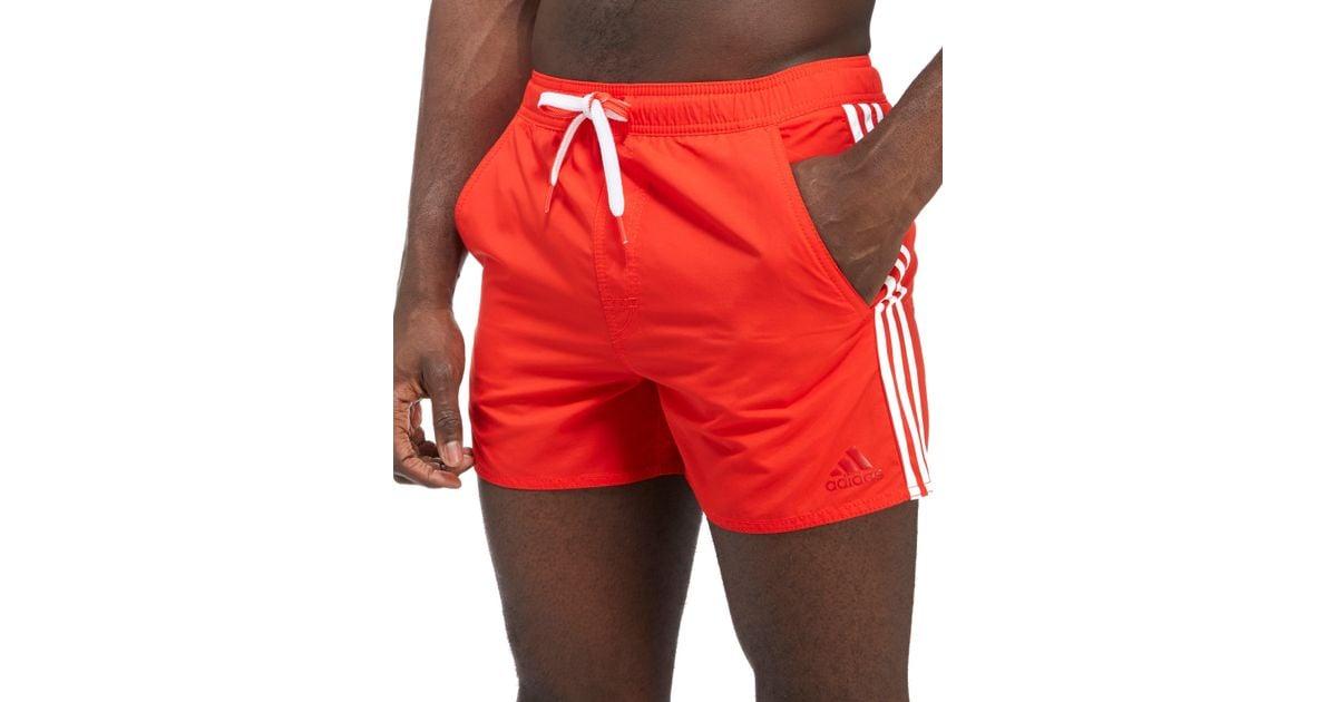 Adidas For Men Swim Red Stripes Shorts 3 OXPZukTi