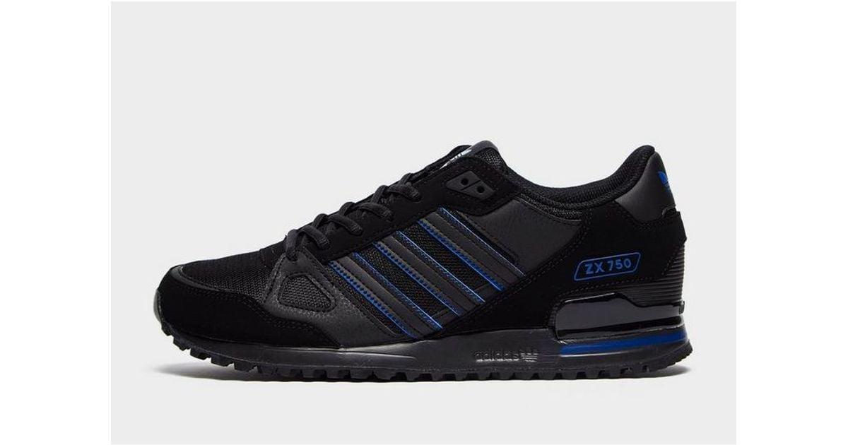 Policía Letrista Rebobinar  adidas Originals Synthetic Zx 750 in Black/Blue (Blue) for Men - Lyst