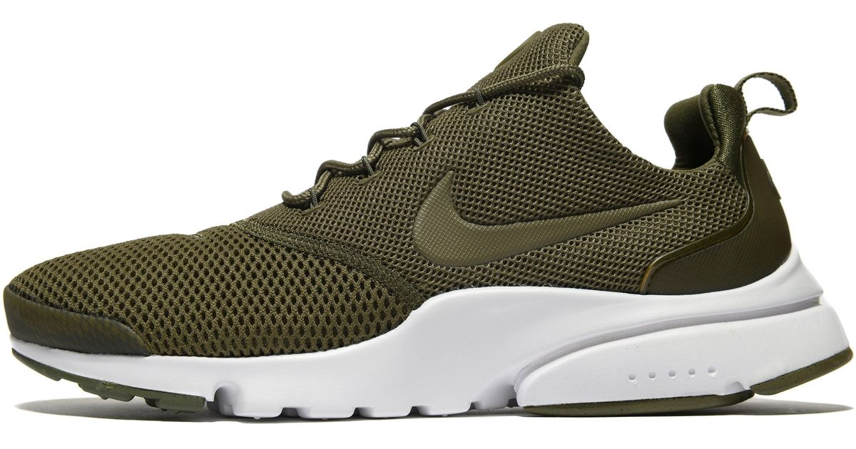 Nike Rubber Air Presto Fly in Olive