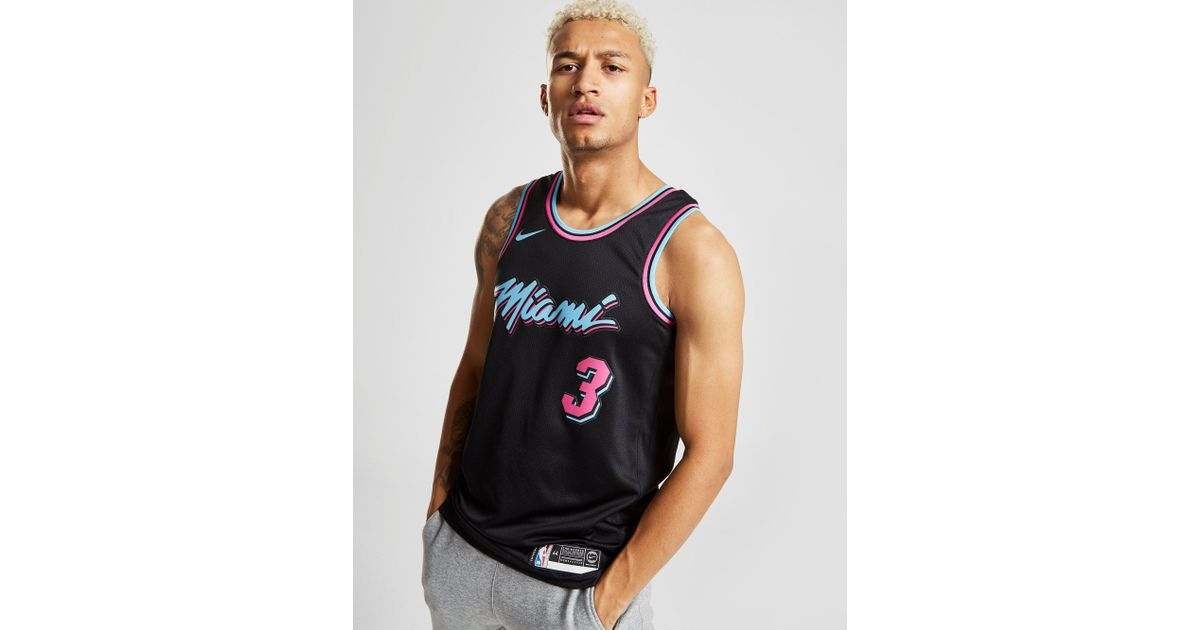 sale retailer dc4dc df35b Nike Black Dwyane Wade City Edition Swingman (miami Heat) Men's Nba  Connected Jersey for men