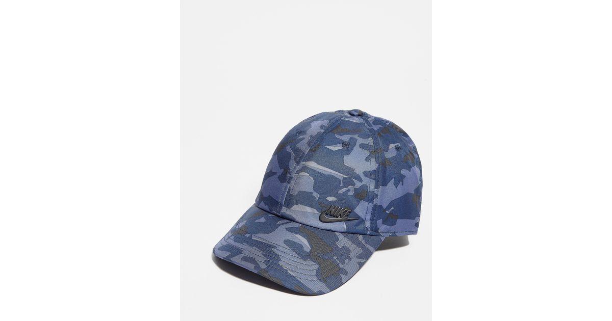 Nike - Blue Futura Camo Cap - Lyst 9ac2bdf0ef7