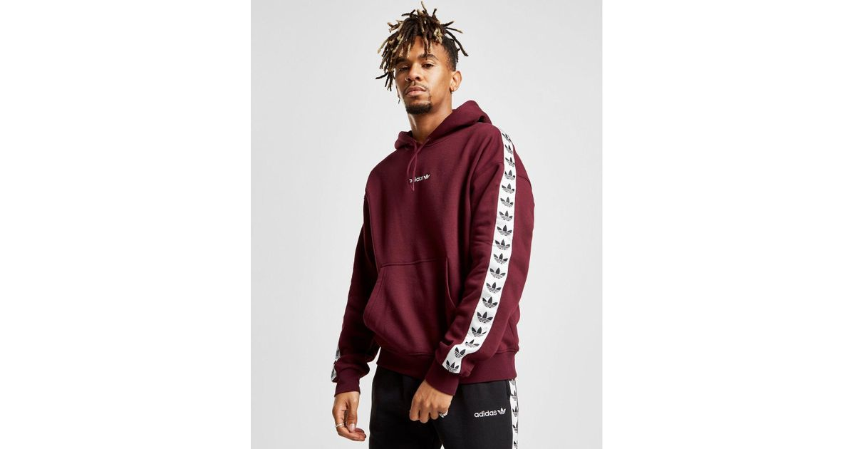 adidas Originals Cotton Tape Overhead Hoodie in Purple for