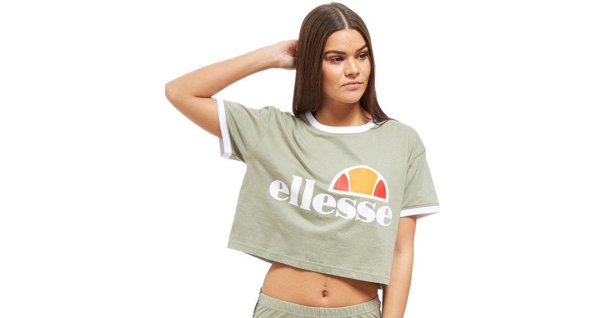 ee9f93c7 Ellesse Multicolor Crop Ringer T-shirt