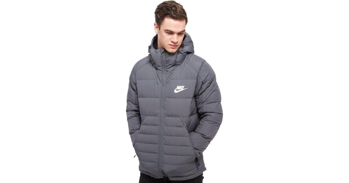 nike coat grey
