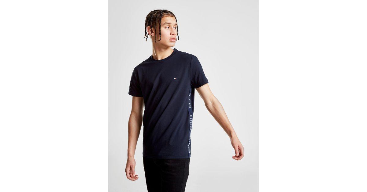 Tommy Hilfiger Side Tape T-shirt in Blue for Men - Lyst 8d3c68285f