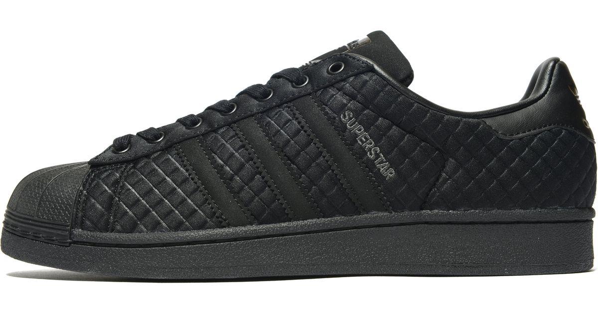 Adidas Originals Quilt.Adidas Originals Black Superstar Quilt For Men