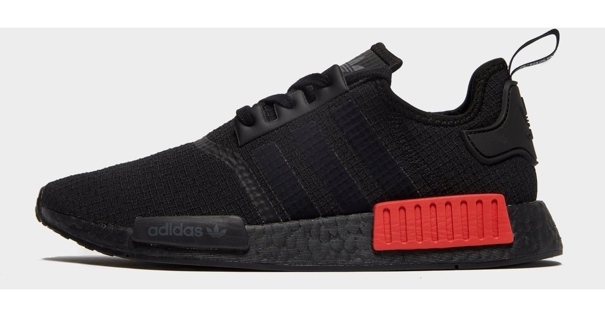 Adidas Synthetic Nmd R1 Shoes In Black Red Black For Men Lyst