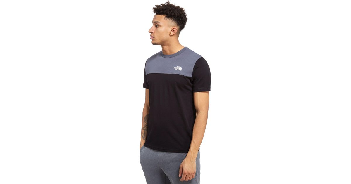 46452c2a The North Face Colour Block T-shirt in Black for Men - Lyst