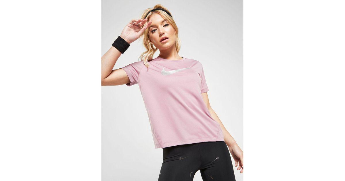 Nike Running Miler T shirt oro rosa