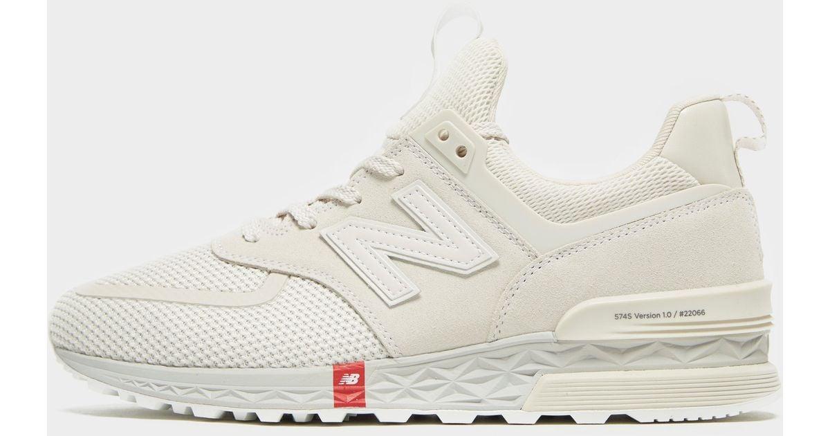 sale retailer aeae5 ff1f1 New Balance White 574 Sport V1 for men