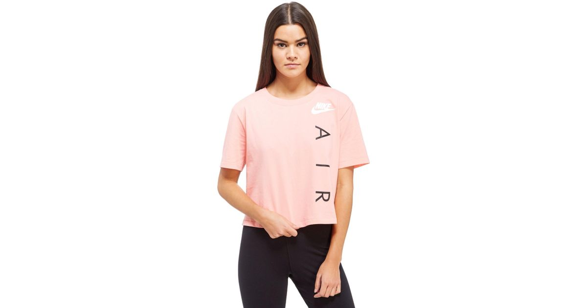 a1fcfc89ac1f1 Lyst - Nike Air Crop T-shirt in Pink