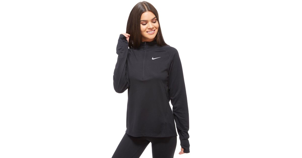 c30b0d52a742 Nike Core Running Top in Black - Lyst