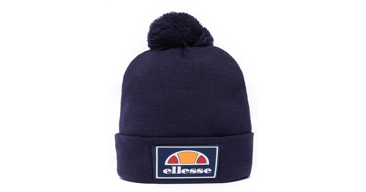 08b80609637 Lyst - Ellesse Patch Pom Pom Beanie Hat in Blue for Men