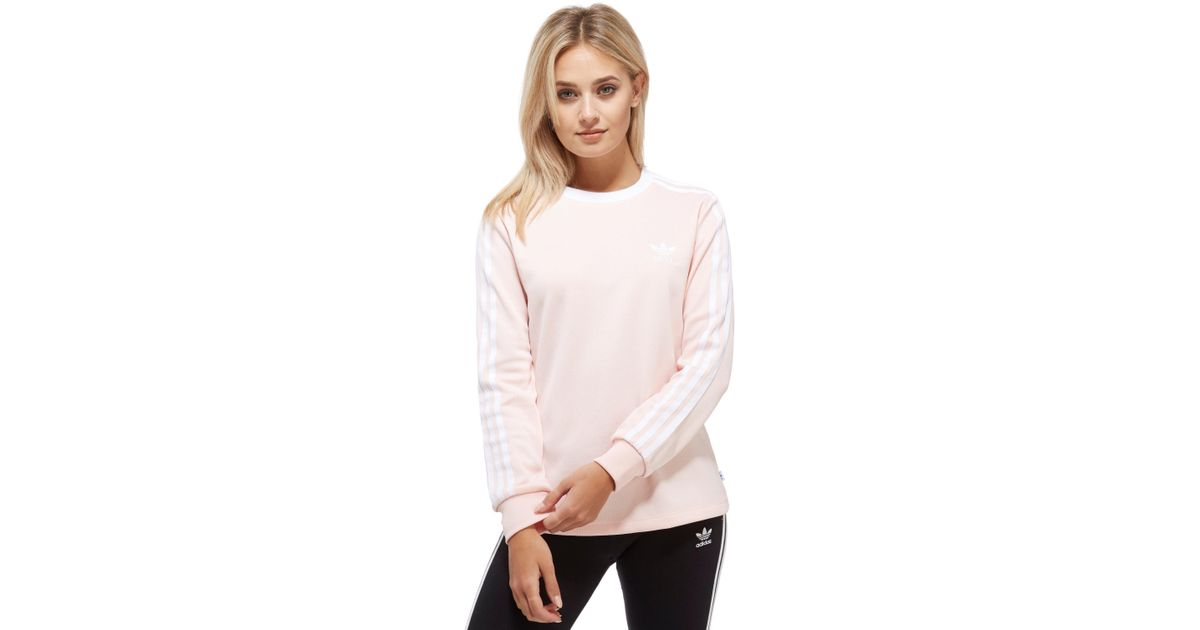 1753bb0b4bc2 adidas Originals Pique California Long Sleeve T-shirt in Pink - Lyst