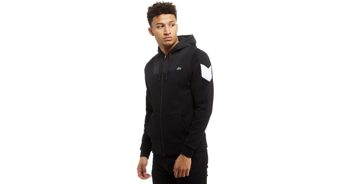 b4e64083 Lacoste Black Block Full Zip Hoodie for men