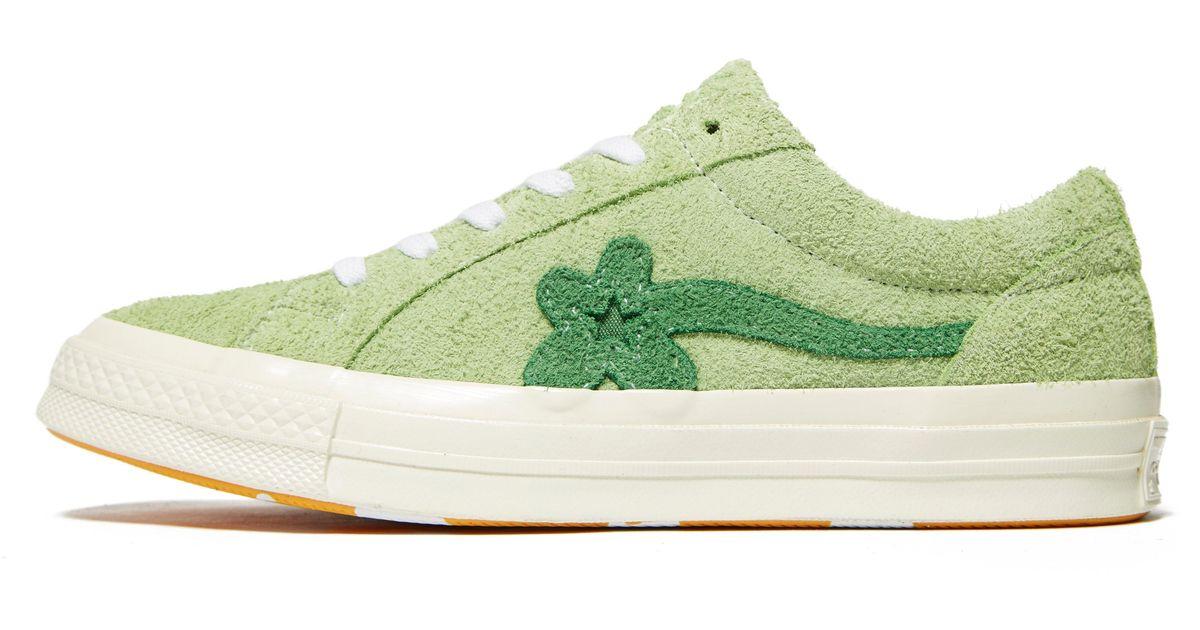 Converse Suede X Tyler Golf Le Fleur One Star In Green Lyst