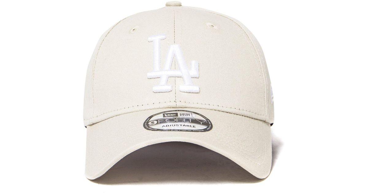 Ktz Mlb Los Angeles Dodgers 9forty Strapback Cap in White for Men - Lyst 36df5b366b4