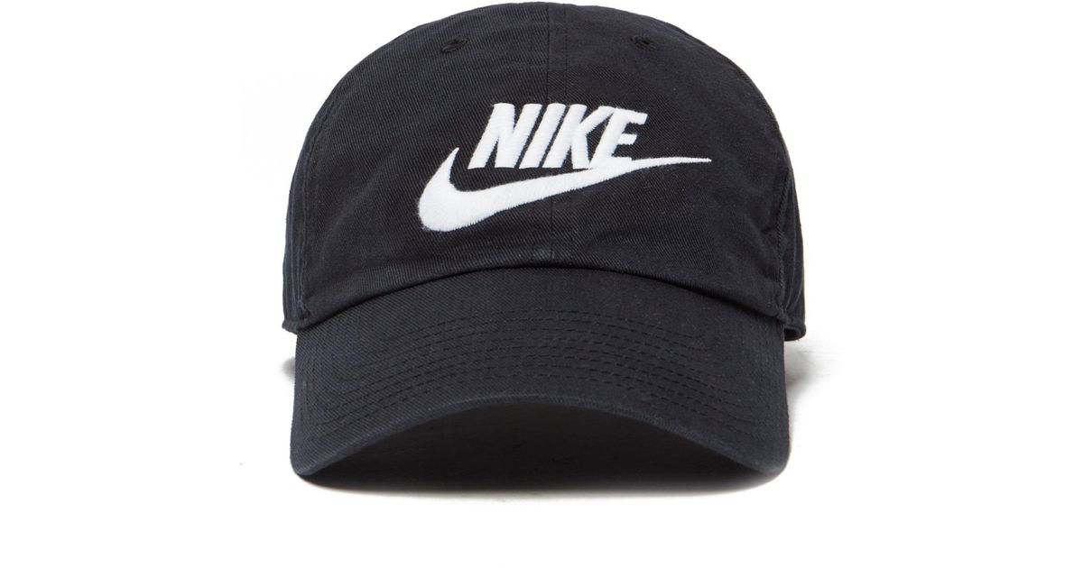 10a5292838d320 ... discount code for nike futura washed strapback cap in black for men  lyst 90507 c797e