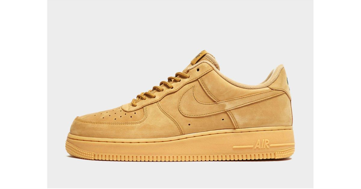 Nike Leather Air Force 1 Lv8 Flax for