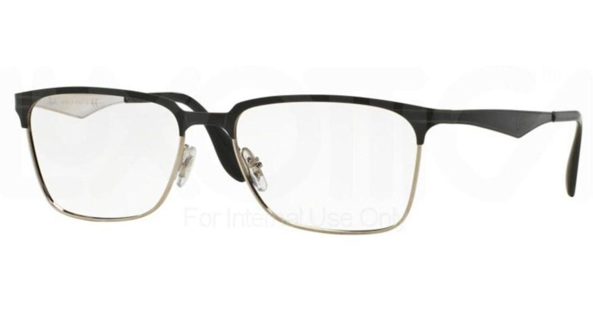 fd6c5b93be Lyst - Ray-Ban Eyeglasses Optical Rx 6344 2861 Top Black On Silver for Men