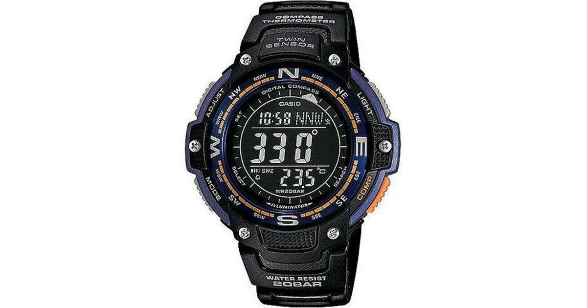Lyst - G-Shock Twin Sensor Digital Compass Sport Watch Sgw100-2b in Black for Men