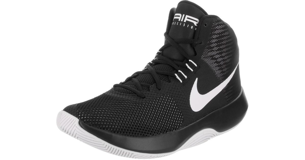 896e8b91a32 Lyst - Nike Air Precision Black white cool Grey Basketball Shoe 10 Men Us  in Black for Men