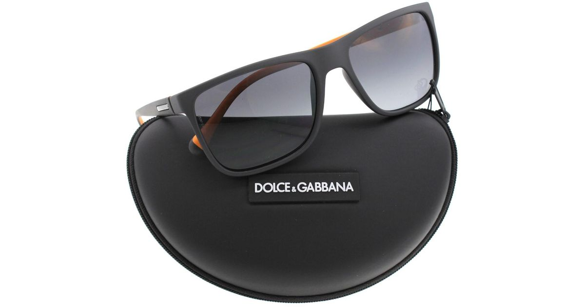 cd43d79e33c Lyst - Dolce   Gabbana D g Over-molded Rubebr Polarized Square Sunglasses  for Men
