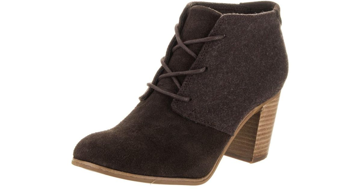3ee3b1dce4e Lyst - TOMS Lunata Lace-up Boot in Brown