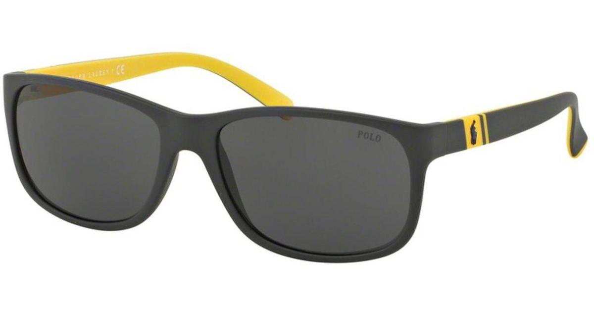 4c5c3766932 ... coupon for lyst polo ralph lauren ph4109 ph 4109 5589 87 matte grey sport  sunglasses 59mm