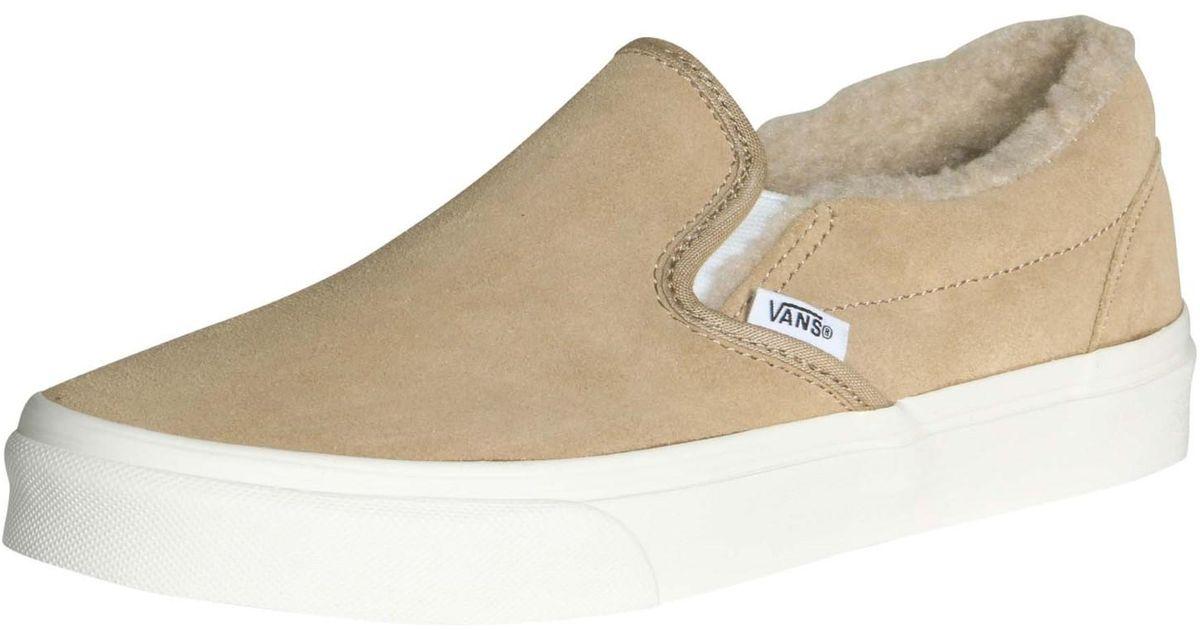 3c59ff6683 Lyst - Vans Unisex Classic Slip-on Suede fleece Skate Shoes-khaki-10- 8.5  in Natural for Men