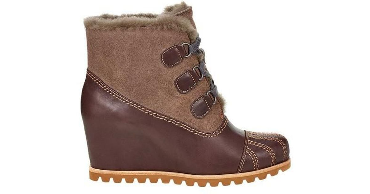 5709be2c08e Lyst - Ugg Ugg Alasdair Wedge Bootie in Brown