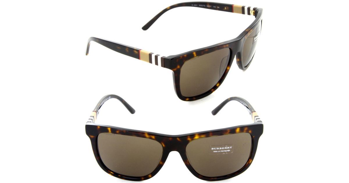 e566f93d5a37 Lyst - Burberry Be 4201 3002 73 Square Sunglasses Dark Havana  brown Lens  in Brown