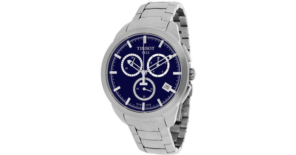 Tissot T Sport Titanium Chronograph Blue Dial Watch T0694174404100 For Men Lyst