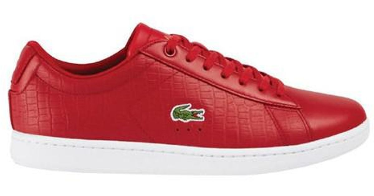 a32bcba6b Lyst - Lacoste Carnaby Evo G117 5 Sneaker in Red for Men