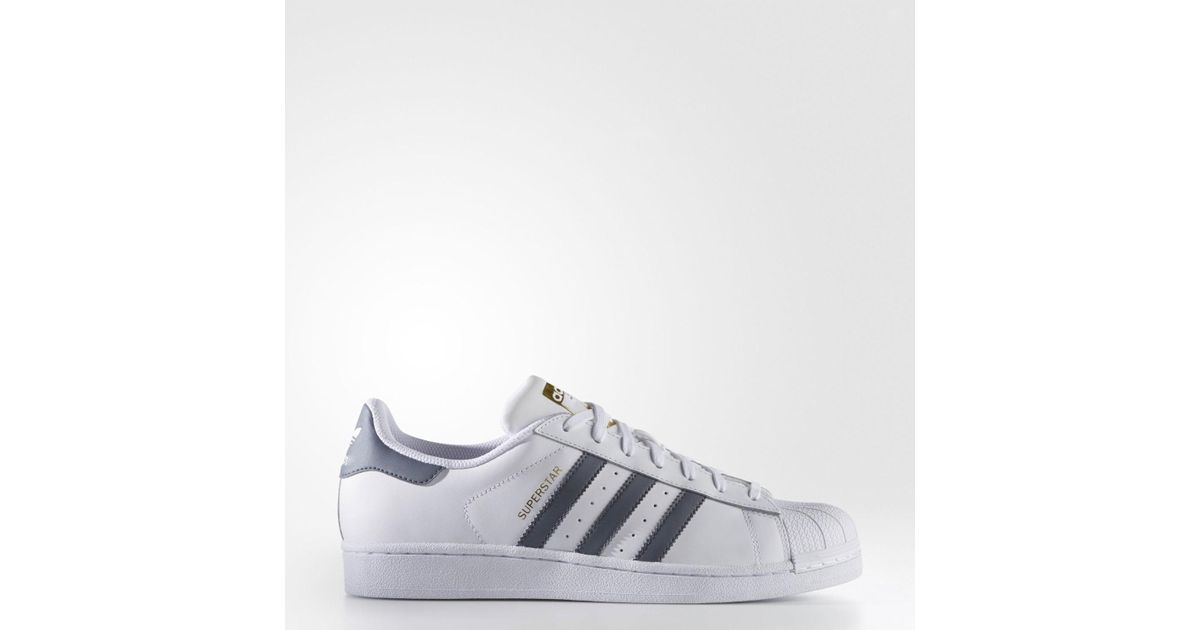 newest d00ad 15073 Lyst - adidas Superstar Foundation Originals Ftwwht onix goldmt Basketball  Shoe 10.5 Us in White for Men