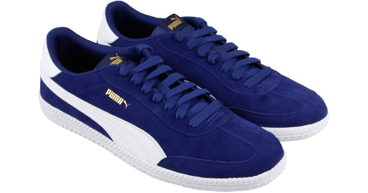 8c91b980681 Lyst - PUMA Astro Cup Blue Depths White Mens Lace Up Sneakers in Blue for  Men