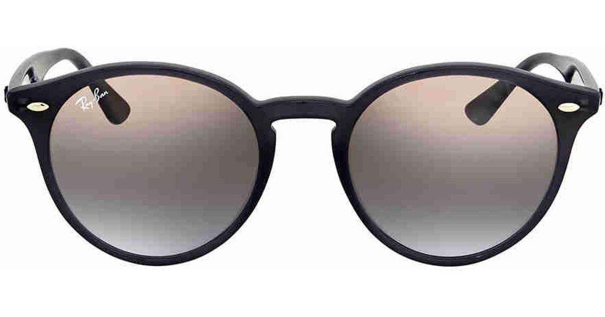 5addb7e95b Lyst - Ray-Ban Ray Ban Brown violet Gradient Mirror Round Sunglasses  Rb2180f 623094 49 in Brown