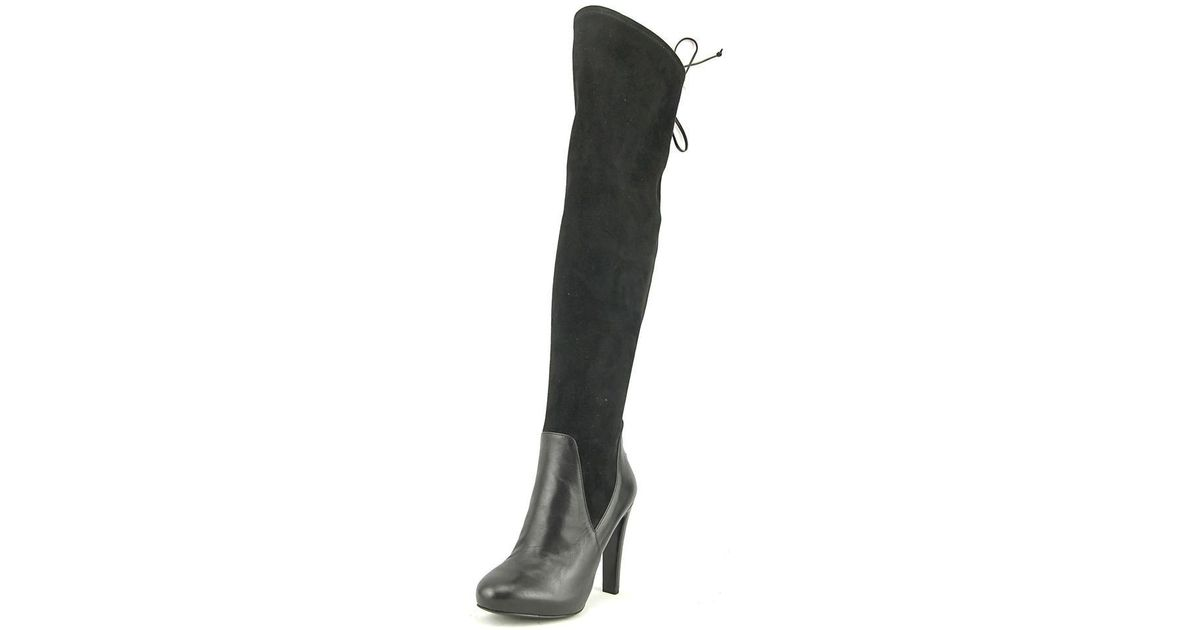 ffa3ae89933 Lyst - Nine West Brenna Over The Knee Boot in Black