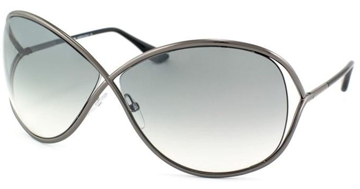 096811737a88 Lyst - Tom Ford Ft0130 Miranda Butterfly Sunglasses in Gray