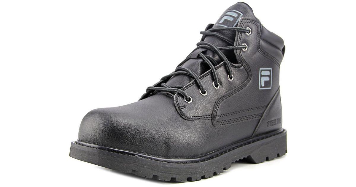 855e65cb3f Fila - Landing Steel Black Steel Toe Work Boot for Men - Lyst