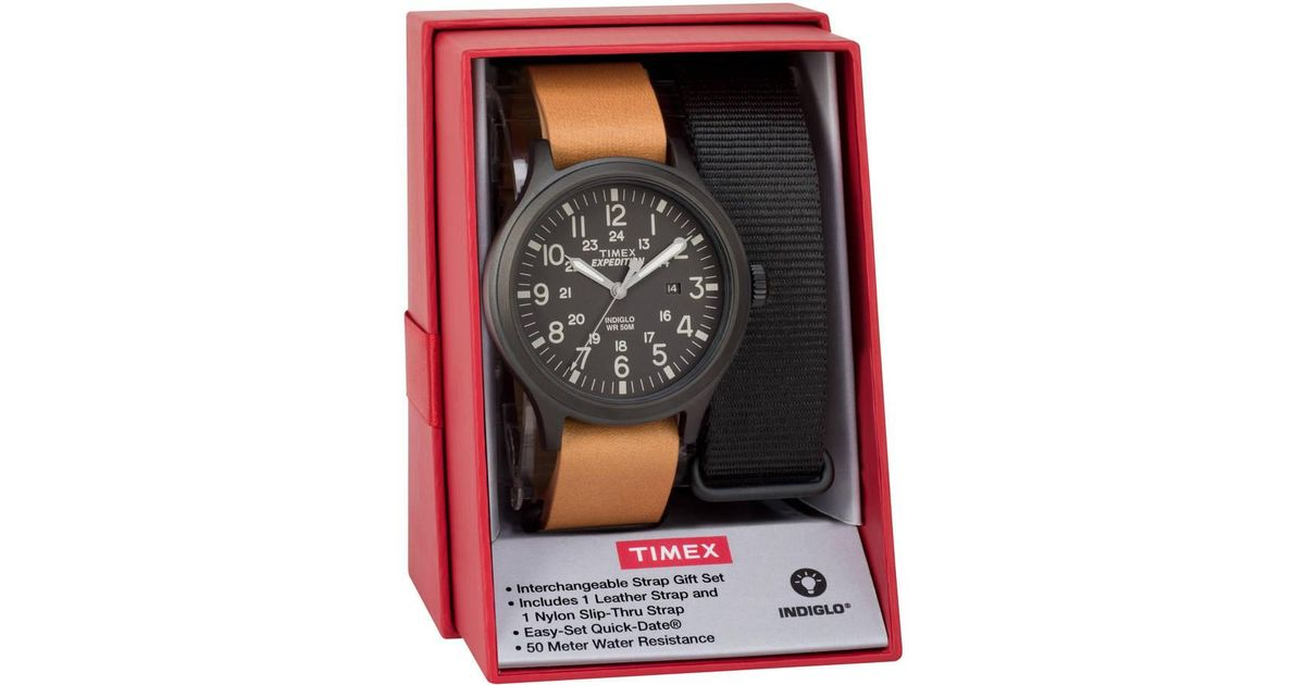 a20c1253b254 Timex Expedition Scout 43 Watch Gift Set in Black for Men - Lyst