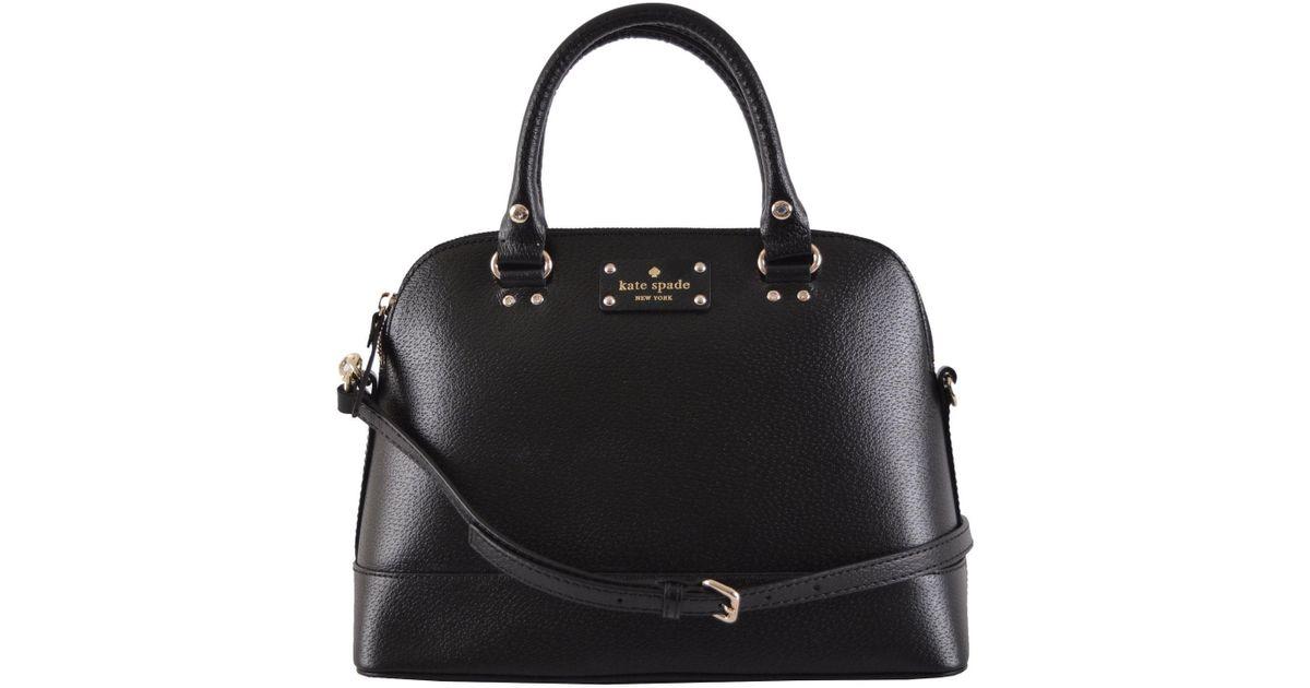 Lyst Kate Spade New Wellesley Small Rachelle Crossbody Satchel Handbag Wkru2485 Black In